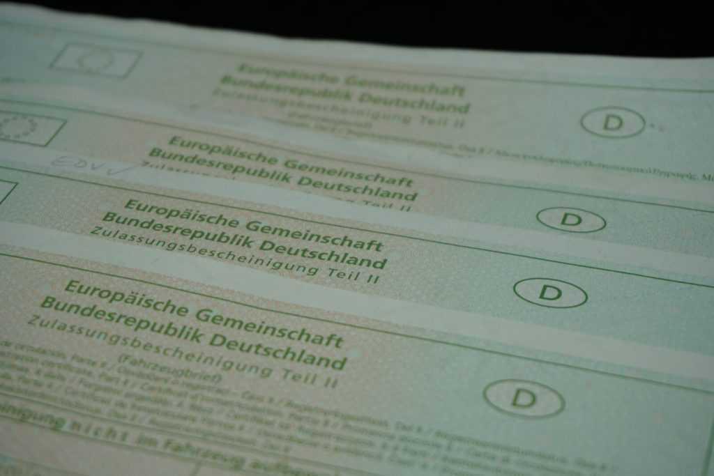 договоре о покупке авто в Германии